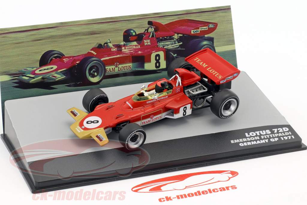 Emerson Fittipaldi Lotus 72D #8 Germania GP Formula 1 1971 1:43 Altaya
