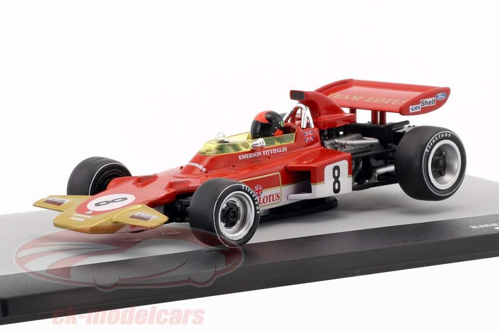 Emerson Fittipaldi Lotus 72D #8 Duitsland GP Formule 1 1971 1:43 Altaya