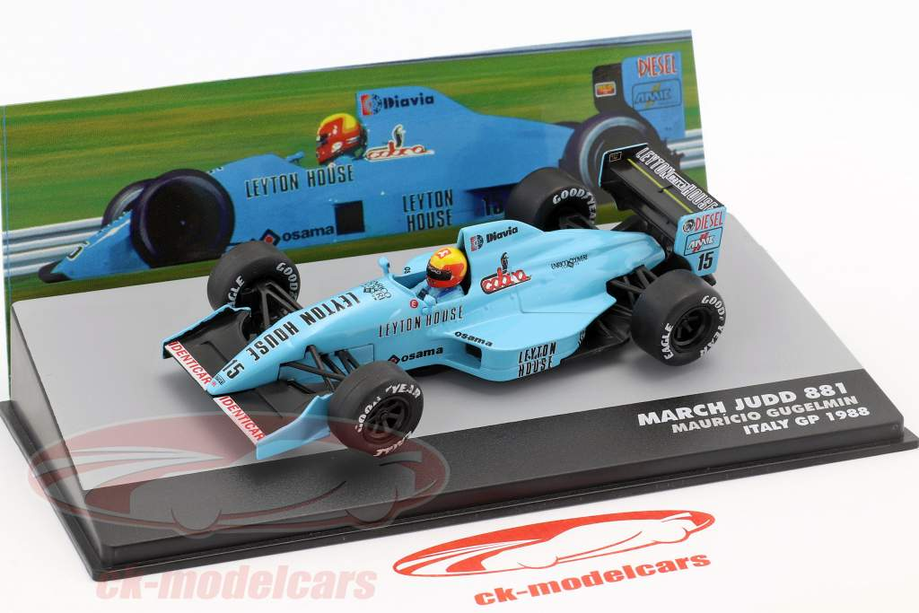 Mauricio Gugelmin March Judd 881 #15 Italia GP Formula 1 1988 1:43 Altaya