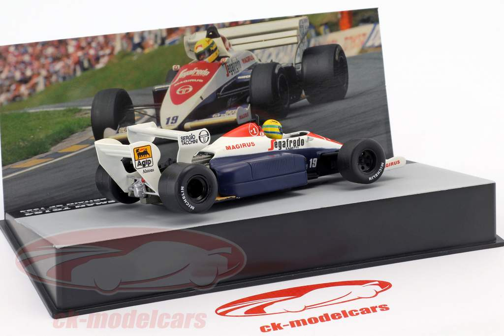 Ayrton Senna Toleman TG184 #19 3 ° britannico GP formula 1 1984 1:43 Altaya