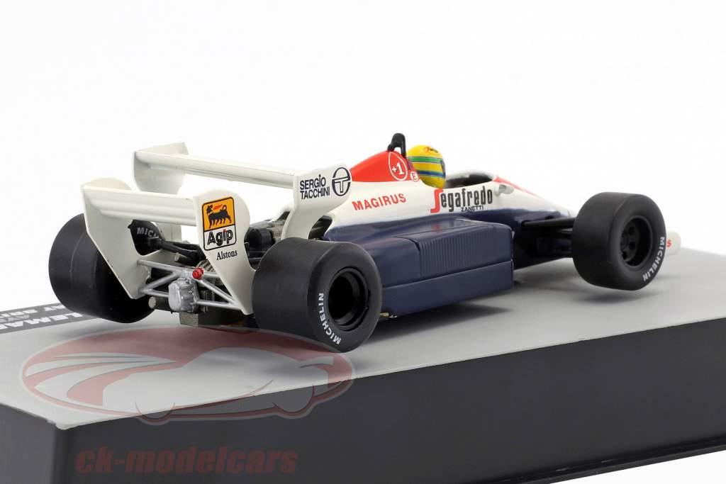 Ayrton Senna Toleman TG184 #19 tercero británico GP fórmula 1 1984 1:43 Altaya