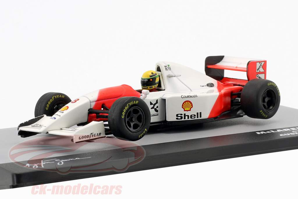 Ayrton Senna McLaren MP4/8 #8 winnaar Australië GP formule 1 1993 1:43 Altaya