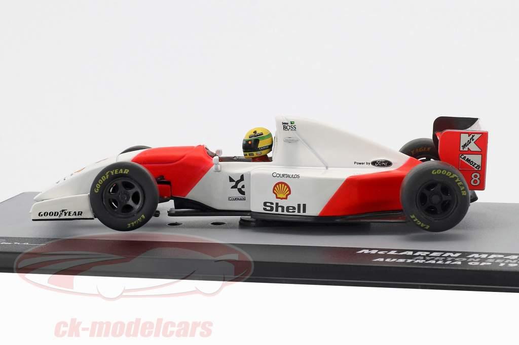 Ayrton Senna McLaren MP4/8 #8 vincitore Australia GP formula 1 1993 1:43 Altaya