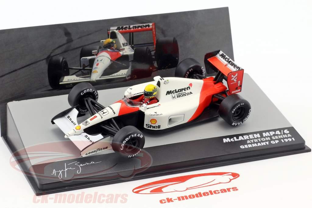 Ayrton Senna McLaren MP4/6 #1 campione del mondo formula 1 1991 1:43 Altaya