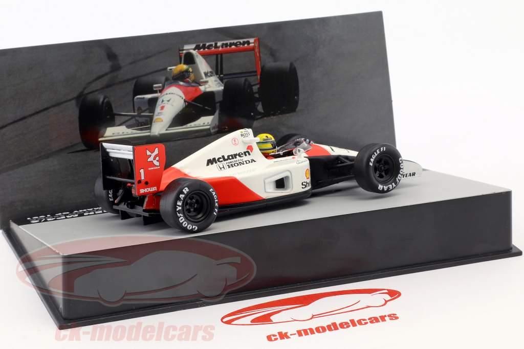 Ayrton Senna McLaren MP4/6 #1 campeão do mundo Alemanha GP fórmula 1 1991 1:43 Altaya