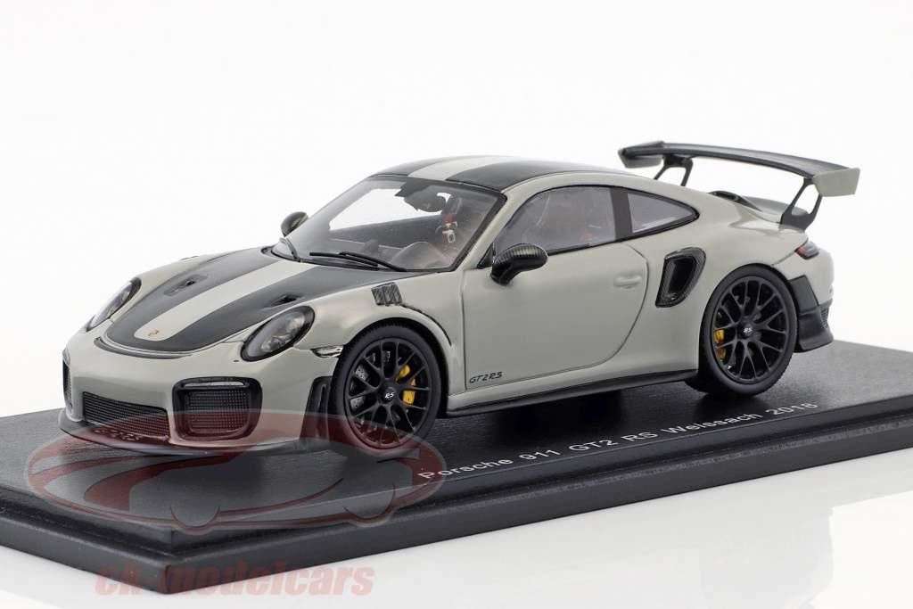 Porsche 911 (991 II) GT2 RS Weissach Paket Baujahr 2018 kreidegrau 1:43 Spark