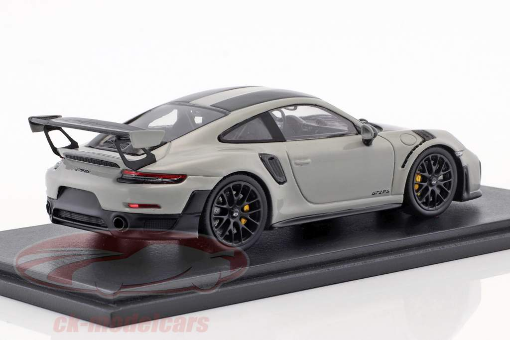 Porsche 911 (991 II) GT2 RS Weissach paquet année de construction 2018 craie gris 1:43 Spark