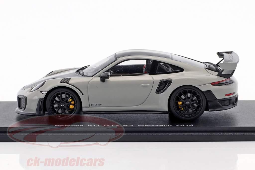 Porsche 911 (991 II) GT2 RS Weissach Package year 2018 chalk Gray 1:43 Spark