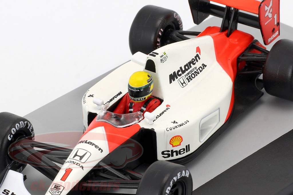 Ayrton Senna McLaren MP4/6 #1 champion du monde formule 1 1991 1:43 Altaya