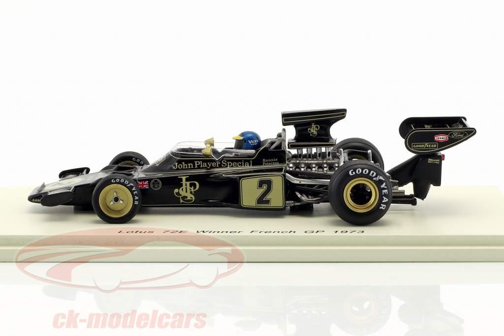 Ronnie Peterson Lotus 72E #2 vencedor francês GP fórmula 1 1973 1:43 Spark