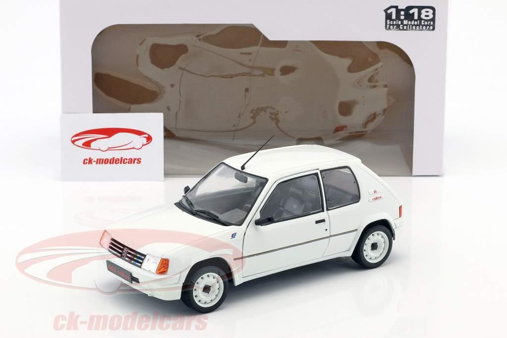 Peugeot 205 Rallye MK1 Baujahr 1988 weiß 1:18 Solido