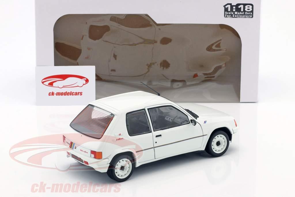 Peugeot 205 Rallye MK1 year 1988 white 1:18 Solido