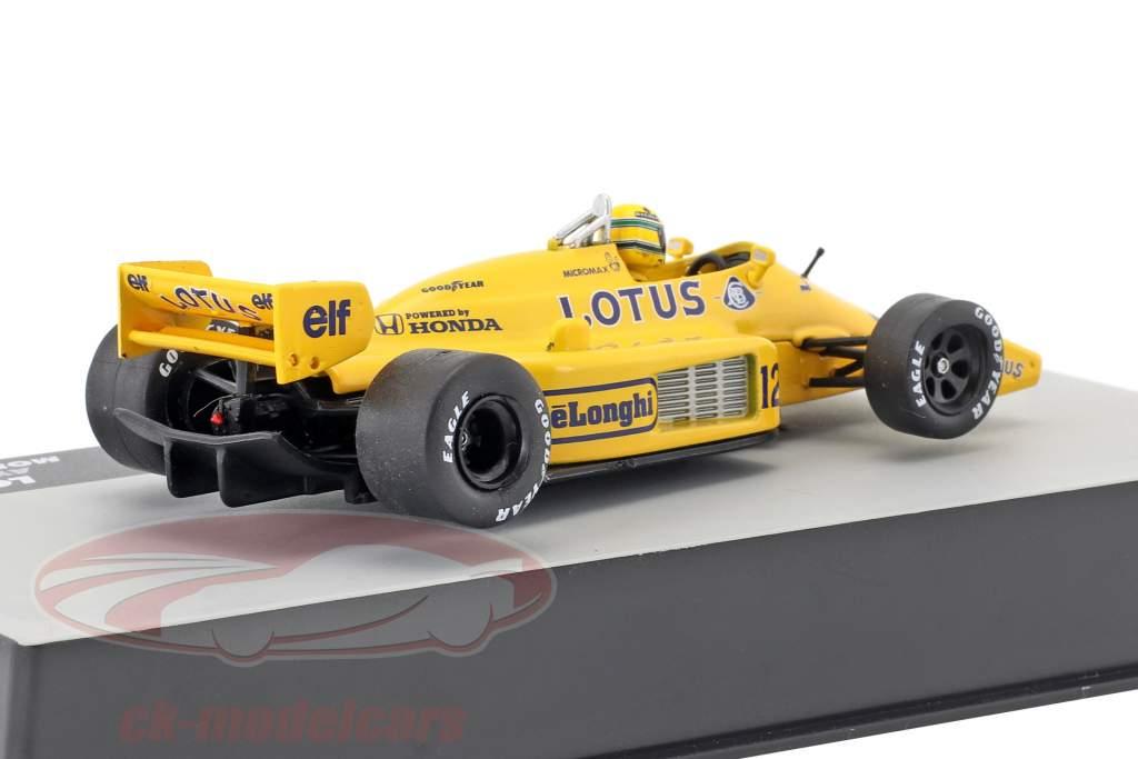 Ayrton Senna Lotus 99T #12 Vinder Monaco GP formel 1 1987 1:43 Altaya