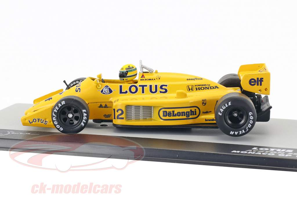 Ayrton Senna Lotus 99T #12 vencedor monaco GP fórmula 1 1987 1:43 Altaya
