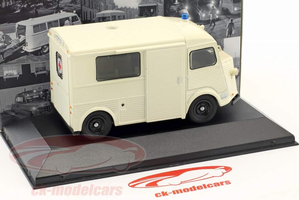 Citroen typen H ambulance tysk rød krydse Opførselsår 1965 hvid 1:43 Atlas
