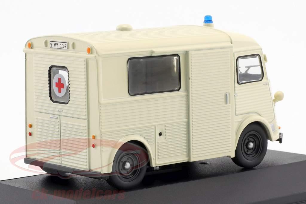 Citroen type H ziekenwagen Duits rood kruis Bouwjaar 1965 wit 1:43 Atlas