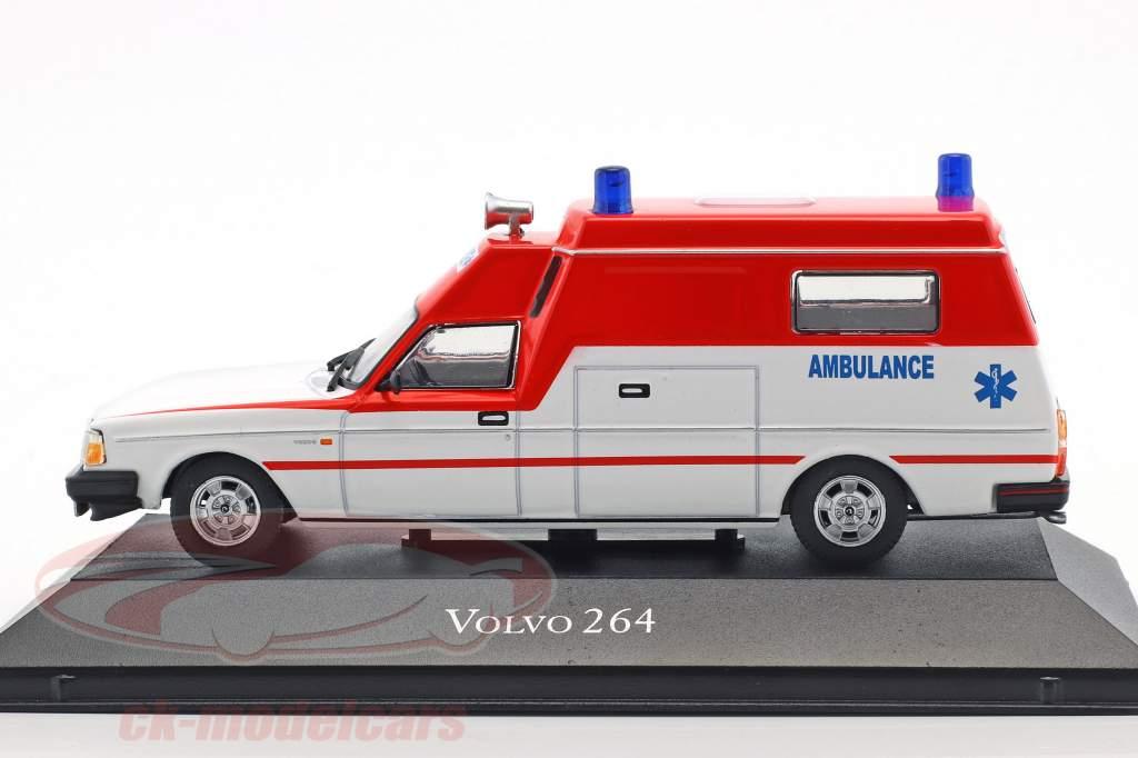Volvo 264 ambulância ano de construção 1978 vermelho / branco 1:43 Atlas