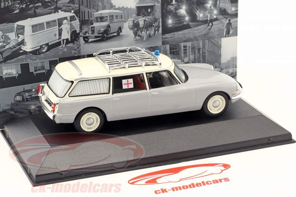 Citroen ID 19 Break Ambulance Baujahr 1962 grau / weiß 1:43 Atlas