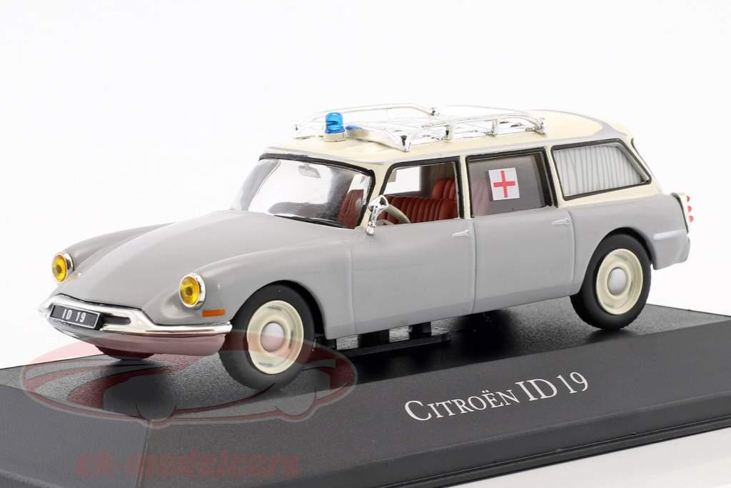 Citroen ID 19 Break Ambulance year 1962 grey / white 1:43 Atlas