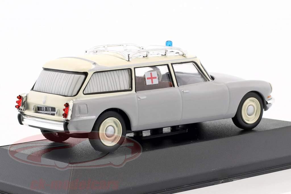 Citroen ID 19 Break ziekenwagen Bouwjaar 1962 grijs / wit 1:43 Atlas