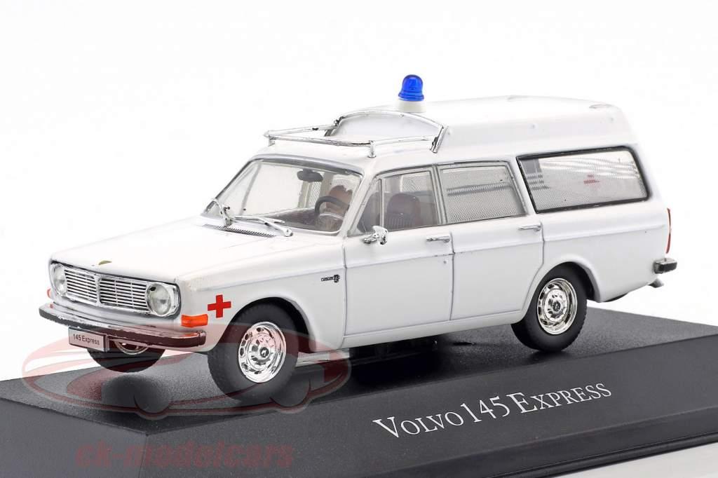 Volvo 145 Express ambulance année de construction 1969 blanc 1:43 Atlas