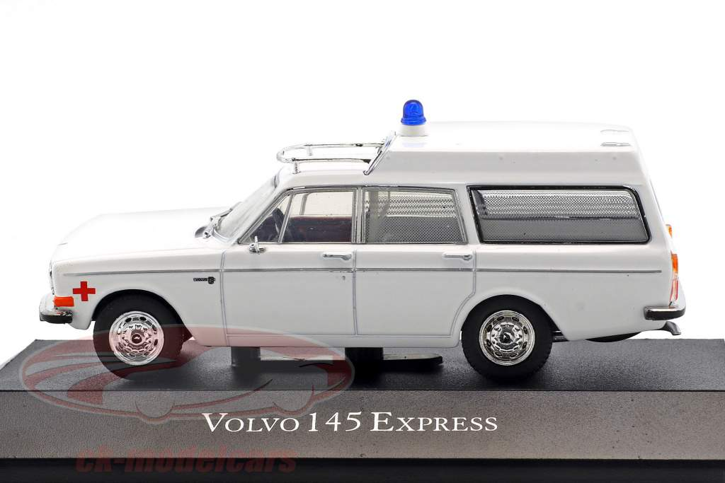 Volvo 145 Express Ambulance year 1969 white 1:43 Atlas