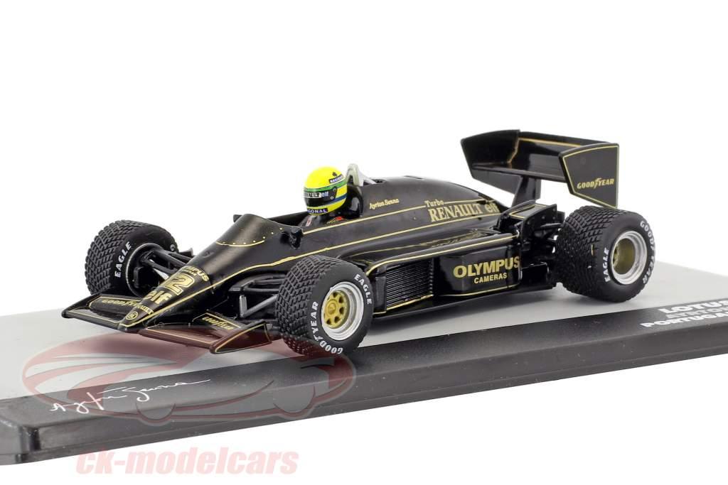 Ayrton Senna Lotus 97T #12 winnaar Portugal GP formule 1 1985 1:43 Altaya