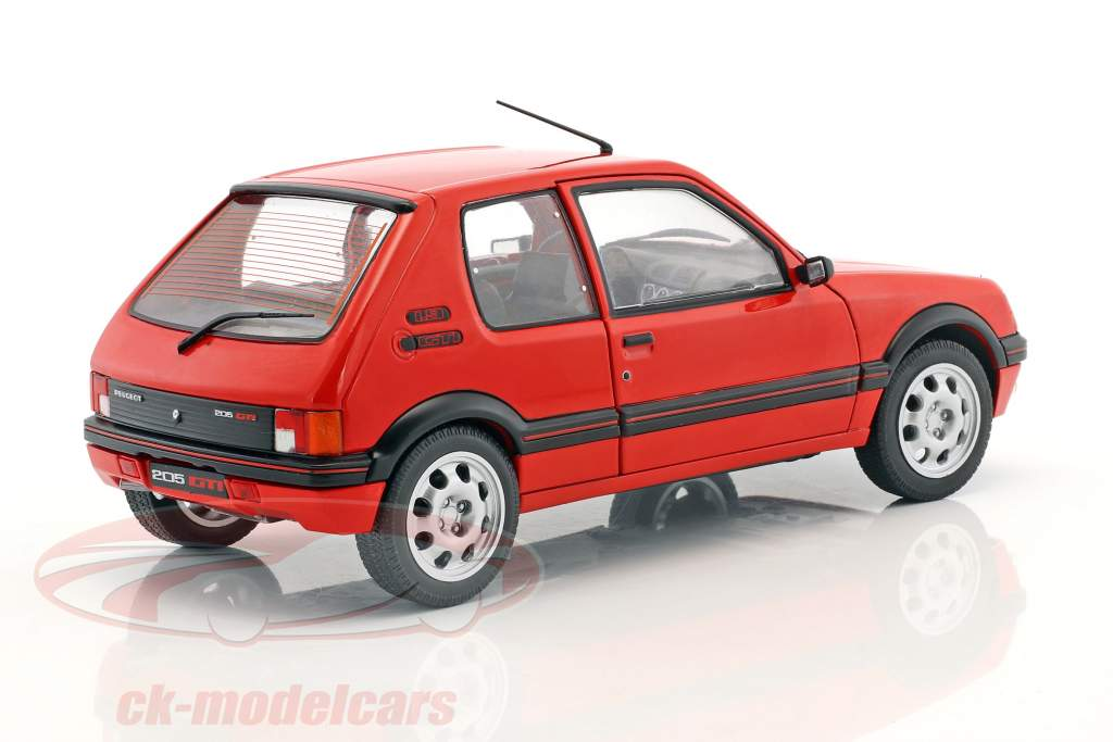 Peugeot 205 GTI MK1 ano de construção 1988 vermelho 1:18 Solido