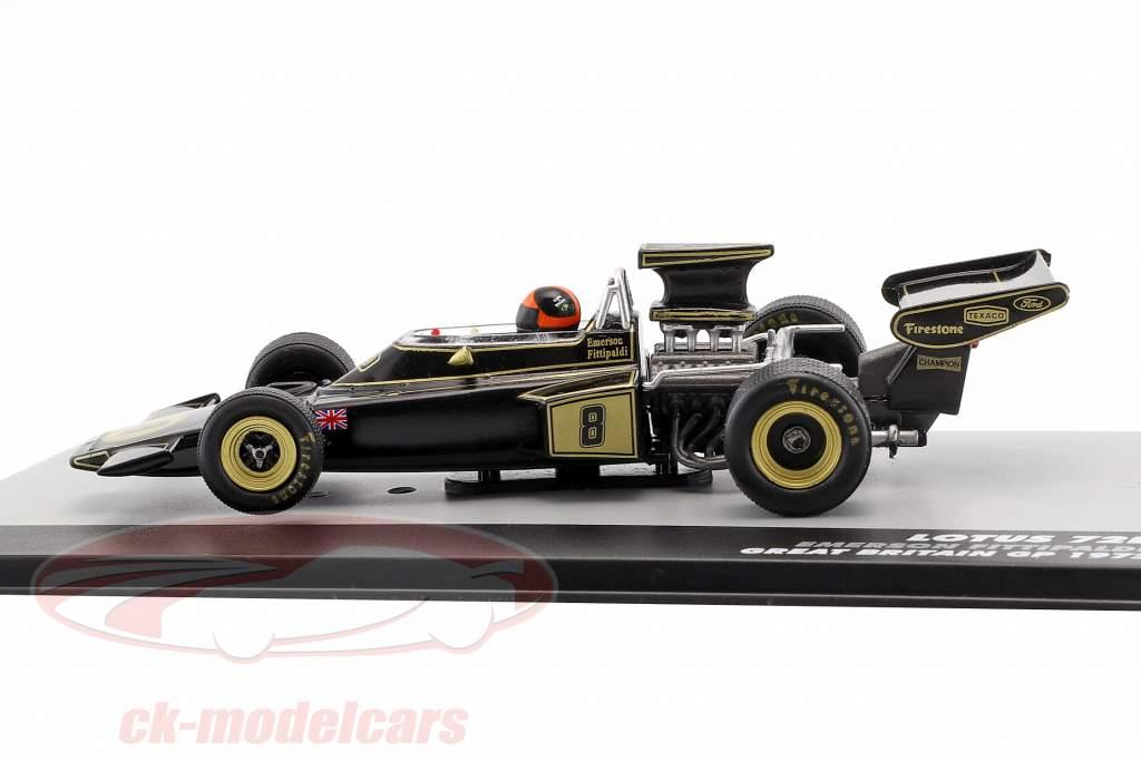 Emerson Fittipaldi Lotus 72D #8 Vinder britisk GP formel 1 1972 1:43 Altaya