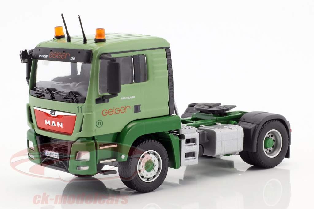 MAN TGS L RuMuSzg camion Geiger vert 1:50 Herpa