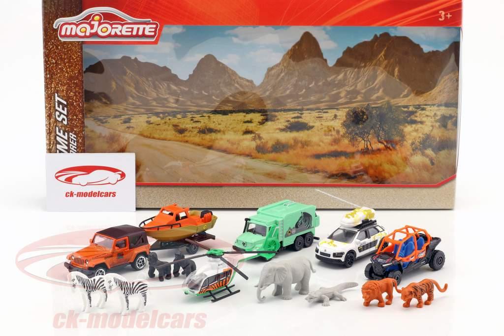 Big Explorer Theme Set 14 pièces Paquet cadeau 1:64 Majorette
