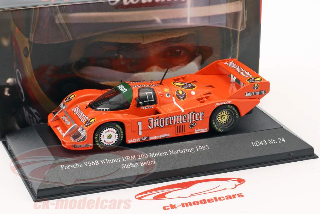 Porsche 956B Brun #1 ganador DRM 200 millas Norisring 1985 Stefan Bellof 1:43 CMR