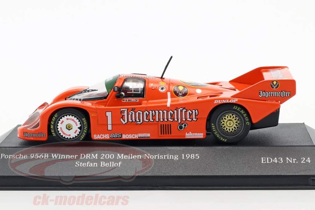 Porsche 956B Brun #1 Vinder DRM 200 miles Norisring 1985 Stefan Bellof 1:43 CMR