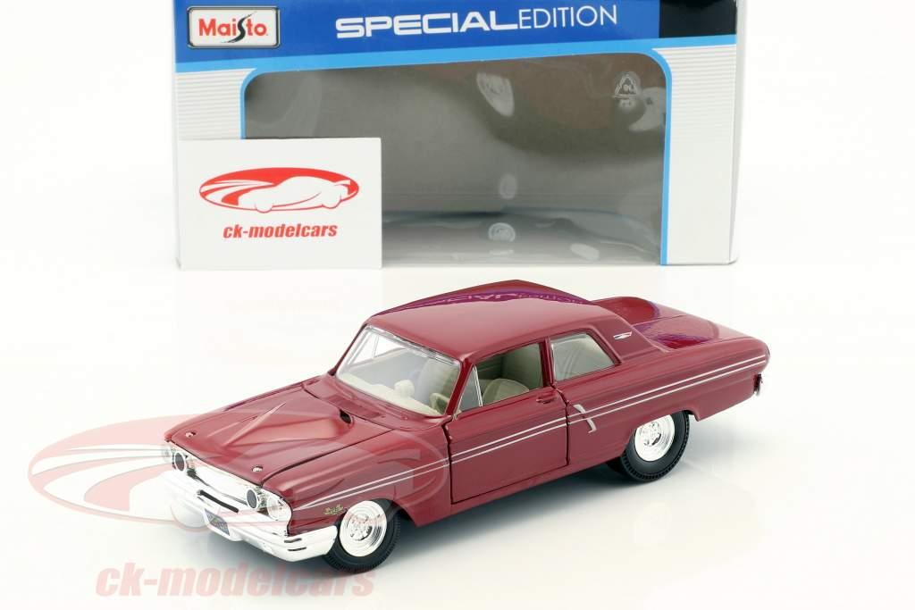 Ford Fairlane Thunderbolt Baujahr 1964 dunkelrot 1:24 Maisto