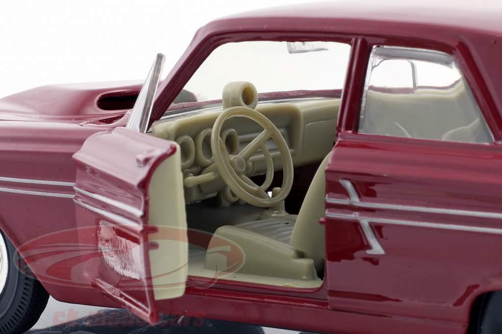Ford Fairlane Thunderbolt Opførselsår 1964 mørk rød 1:24 Maisto