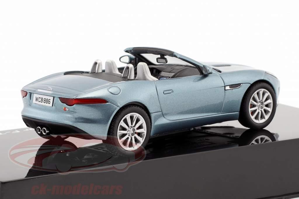 Jaguar F-Type V8-S Cabriolet year 2013 satellite grey 1:43 Ixo