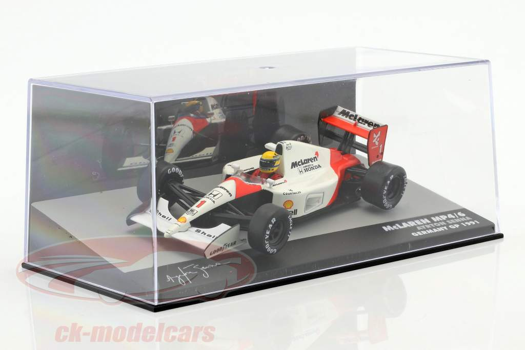 Ayrton Senna McLaren MP4/6 #1 verdensmester Tyskland GP formel 1 1991 1:43 Altaya