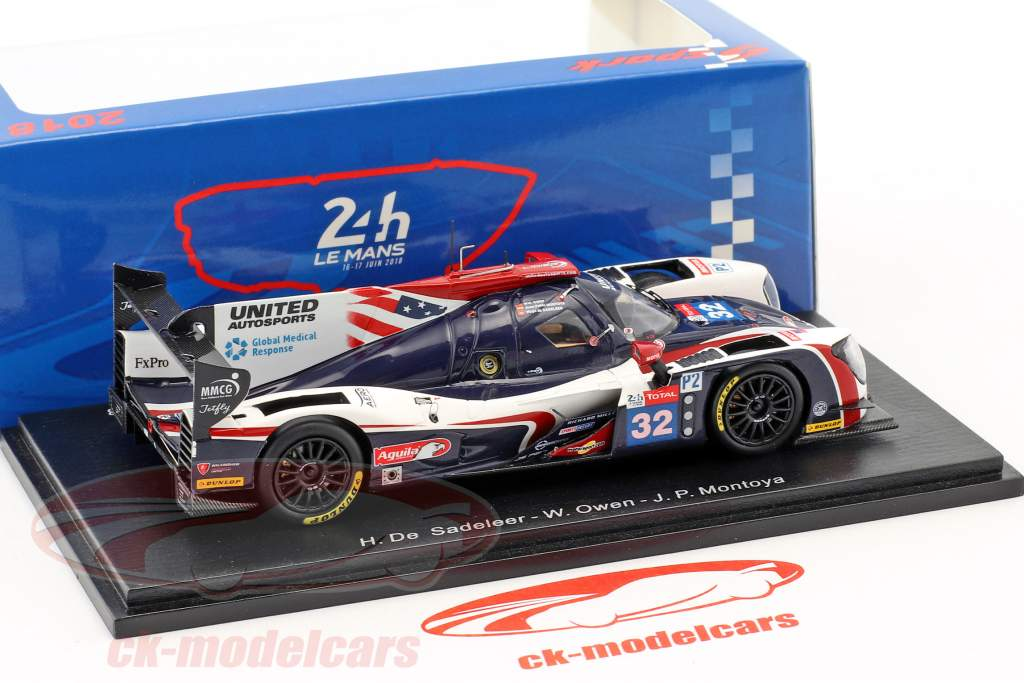 Ligier JS P217 #32 24h LeMans 2018 De Sadeleer, Owen, Montoya 1:43 Spark