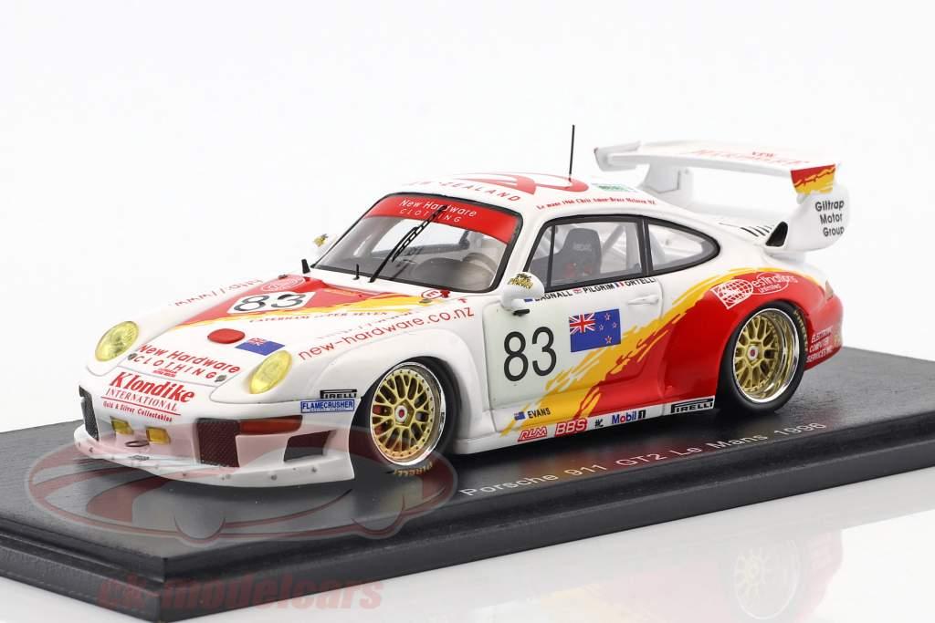 Porsche 911 (993) GT2 #83 24h LeMans 1996 Ortelli, Pilgrim, Bagnall 1:43 Spark