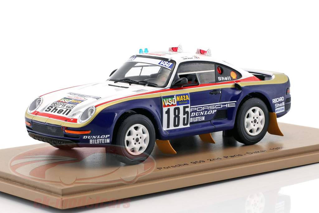 Porsche 959 #185 2 Rallye Paris - Dakar 1986 Ickx, Brasseur 1:43 Spark