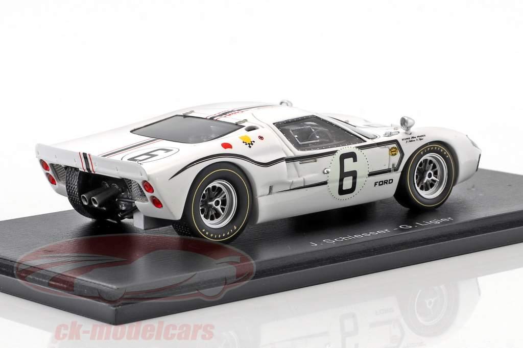 Ford GT40 MK IIB #6 24h LeMans 1967 Schlesser, Ligier 1:43 Spark
