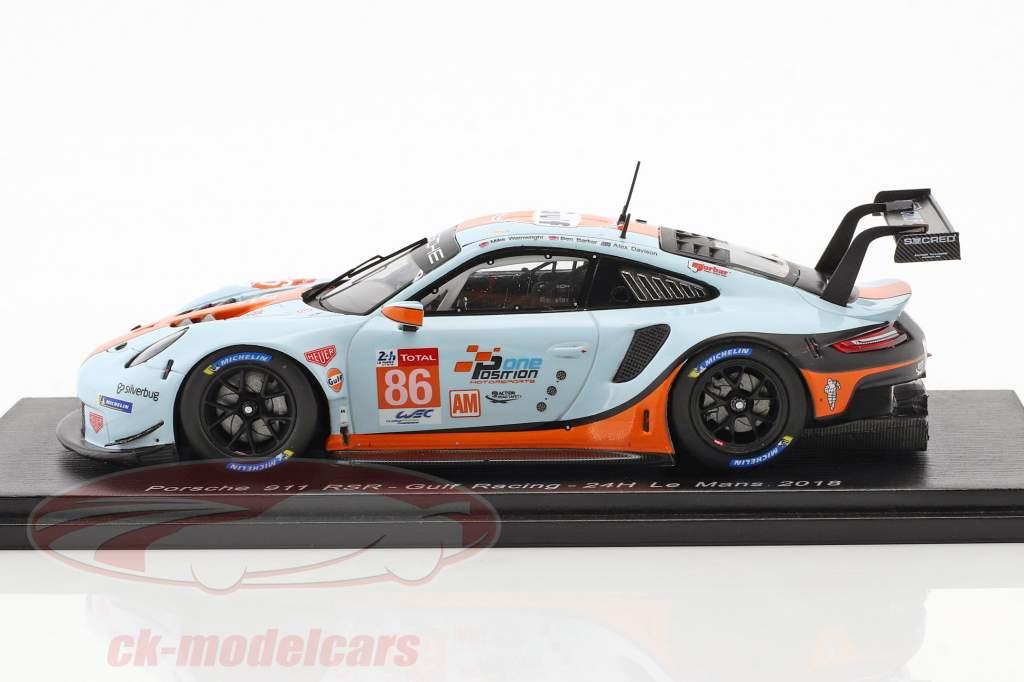 Porsche 911 (991 II) RSR #86 24h LeMans 2018 Wainwright, Barker, Davison 1:43 Spark