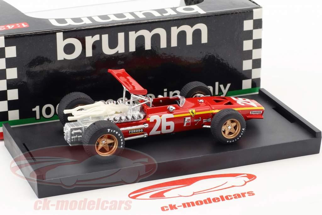 Jacky Ickx Ferrari 312 F1 #26 Winner French GP formula 1 1968 1:43 Brumm