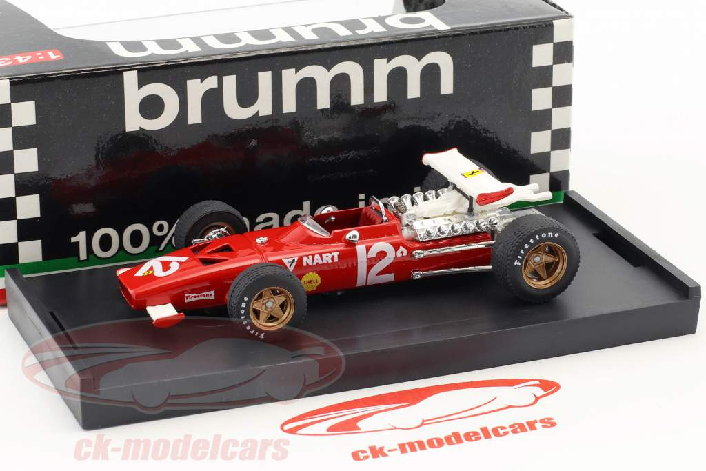 Pedro Rodriguez Ferrari 312 F1 #12 Messico GP formula 1 1969 1:43 Brumm