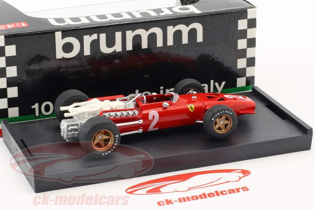 Chris Amon Ferrari 312 F1 #2 italiano GP fórmula 1 1967 1:43 Brumm