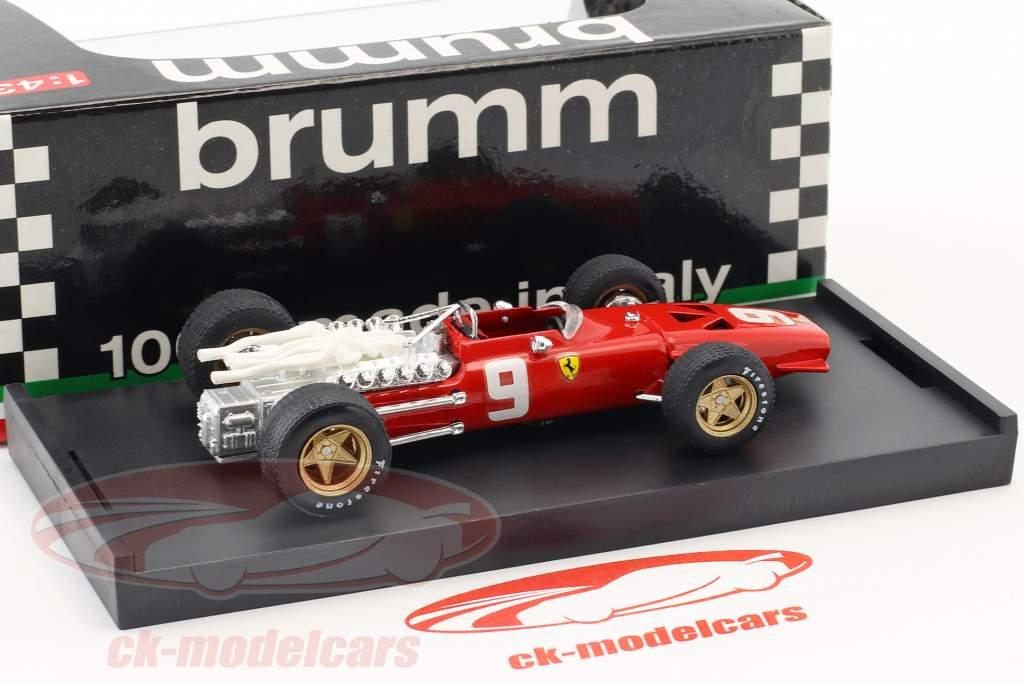 Chris Amon Ferrari 312 F1 #9 6 Pays-Bas GP formule 1 1968 1:43 Brumm