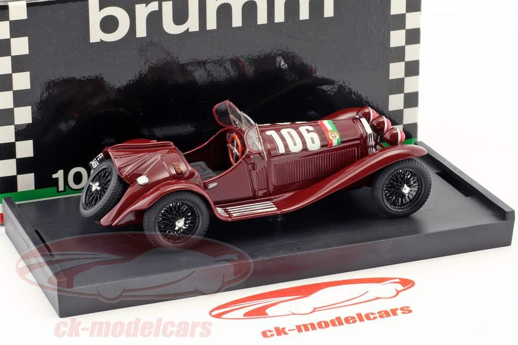 Alfa Romeo 8C 2300 #106 ganador Mille Miglia 1932 Borzacchini, Bignami 1:43 Brumm