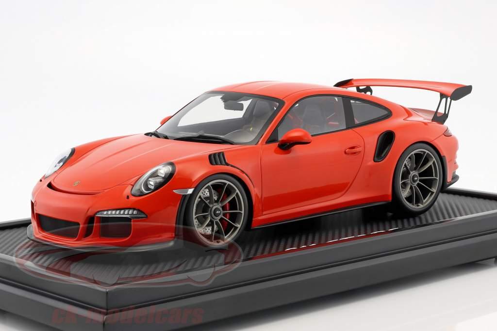 Porsche 911 (991) GT3 RS lava orange with showcase 1:12 Spark