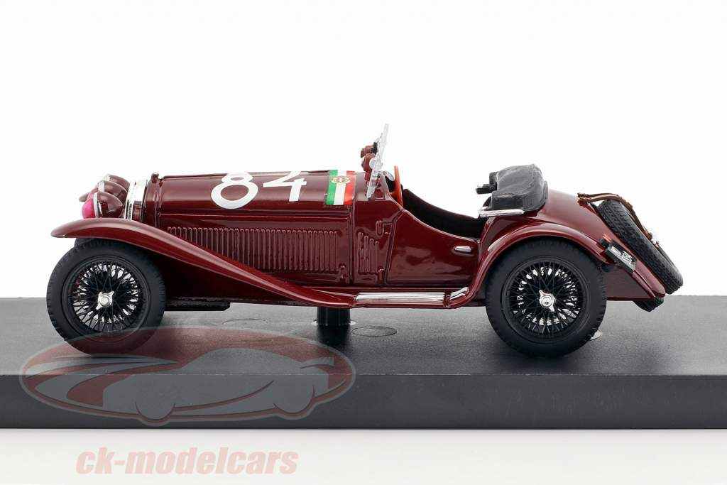 Alfa Romeo 6C 1750 GS #84 gagnant Mille Miglia 1930 Nuvolari, Guidotti 1:43 Brumm