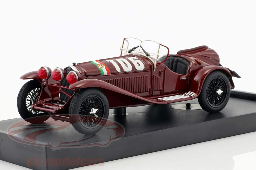 Alfa Romeo 8C 2300 #106 vencedor Mille Miglia 1932 Borzacchini, Bignami 1:43 Brumm
